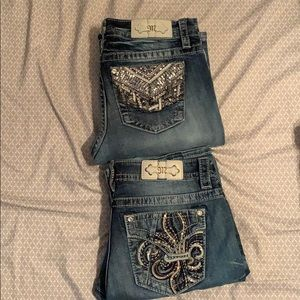 2 pairs of miss me jeans